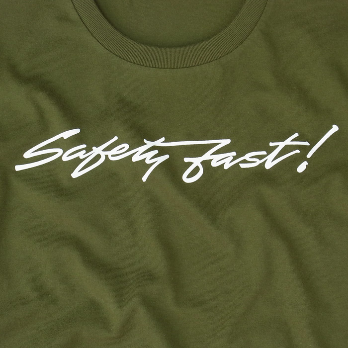 overtakers safety-fast! t-shirt